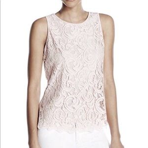 Adrianna Papell Sleeveless Lace Top